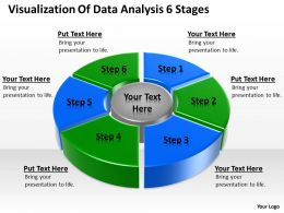 Business Process Flow Chart Example Visualization Of Data Analysis 6 Stages Powerpoint Slides