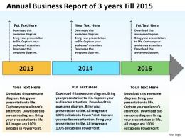 Business Process Flow Chart Example Years Till 2015 Powerpoint Templates PPT Backgrounds For Slides
