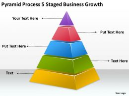 Business Process Flow Chart Staged Growth Powerpoint Templates PPT Backgrounds For Slides 0515