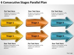 Business Process Flow Chart Stages Parallel Plan Powerpoint Templates PPT Backgrounds For Slides