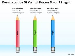 Business Process Flow Chart Steps 3 Stages Powerpoint Templates PPT Backgrounds For Slides