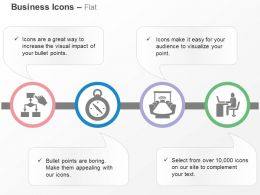 Business Process Flow Chart Time Management Meeting Office Ppt Icons Graphics