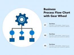 Business Process Flow Chart With Gear Wheel