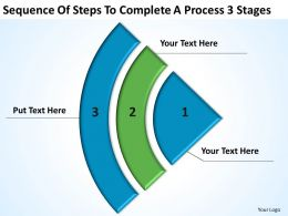 Business Process Flow Complete A 3 Stages Powerpoint Templates PPT Backgrounds For Slides