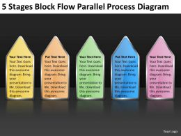Business Process Flow Diagram 5 Stages Block Parallel Powerpoint Templates