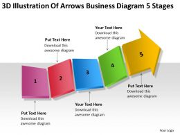 Business Process Flow Diagram 5 Stages Powerpoint Templates PPT Backgrounds For Slides