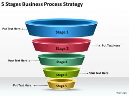Business Process Flow Diagram 5 Stages Strategy Powerpoint Templates