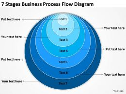Business Process Flow Diagram Examples 7 Stages Powerpoint Slides