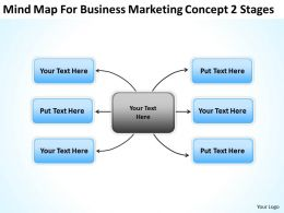 Business Process Flow Diagram Mindmap For Marketing Concept 2 Stages Powerpoint Slides