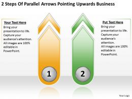Business Process Flow Diagram Steps Of Parallel Arrows Pointing Upwards Powerpoint Slides