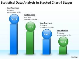 Business Process Flow Diagrams Data Analysis Stacked Chart 4 Stages Powerpoint Slides