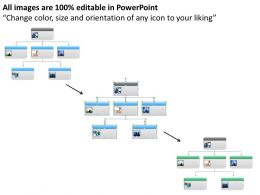Business Process Flow Diagrams Organization Chart For Strategy Powerpoint Slides 0523