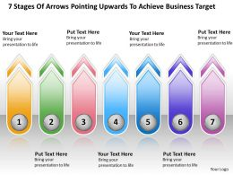 Business Process Flow Diagrams Pointing Upwards To Achieve Target Powerpoint Templates