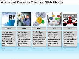 Business Process Flow Graphical Timeline Diagram With Photos Powerpoint Templates