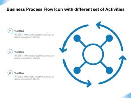 Business Process Flow Icon With Different Set Of Activities