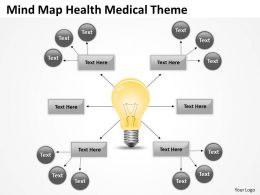 Business Process Flow Mind Map Health Medical Theme Powerpoint Slides 0523