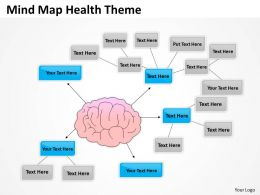 Business Process Flow Mind Map Health Theme Powerpoint Slides 0523