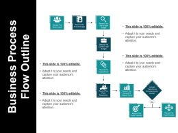 Business Process Flow Outline Powerpoint Slide Designs Download
