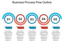 Business Process Flow Outline Powerpoint Slide Introduction