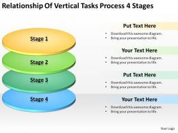 Business Process Flow Relationship Of Vertical Tasks 4 Stages Powerpoint Slides