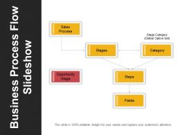 Business Process Flow Slideshow Powerpoint Slide Show