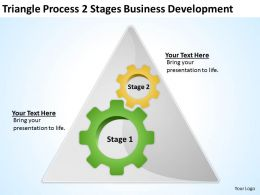 Business Process Flow Stages Development Powerpoint Templates PPT Backgrounds For Slides