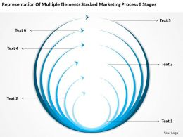 Business Process Flowchart Elements Stacked Marketing 6 Stages Powerpoint Templates