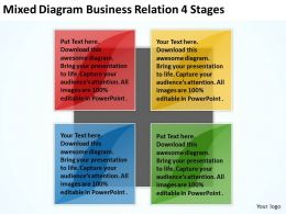 Business Process Flowchart Examples 4 Stages Powerpoint Templates PPT Backgrounds For Slides 0522