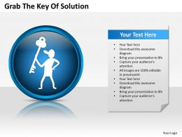 business_process_flowchart_grab_the_key_of_solution_powerpoint_templates_0515_Slide01