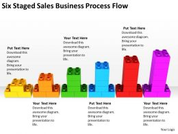 Business Process Flowchart Six Staged Sales Powerpoint Slides