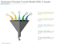 Business Process Funnel Model With 5 Inputs Example Of Ppt
