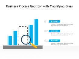 Business Process Gap Icon With Magnifying Glass
