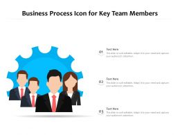 Business Process Icon For Key Team Members