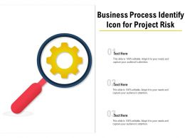 Business Process Identify Icon For Project Risk