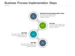 Business Process Implementation Steps Ppt Powerpoint Presentation Layouts Image Cpb