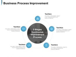 Business Process Improvement 5 Stages Continuous Ppt Powerpoint Presentation Slides Rules