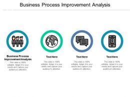 Business Process Improvement Analysis Ppt Powerpoint Presentation Icon Influencers Cpb
