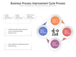 Business Process Improvement Cycle Process
