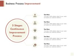 Business Process Improvement Gear Ppt Powerpoint Presentation File Graphics Example