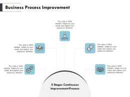 Business Process Improvement Gears Ppt Powerpoint Presentation Outline Icons