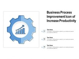 Business Process Improvement Icon Of Increase Productivity