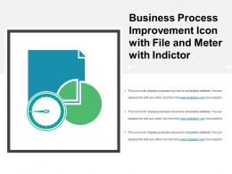 Business Process Improvement Icon With File And Meter With Indictor