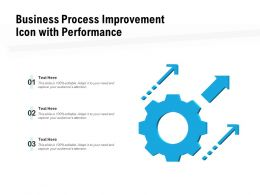 Business Process Improvement Icon With Performance