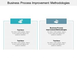 Business Process Improvement Methodologies Ppt Powerpoint Presentation Slides Format Cpb
