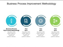 Business Process Improvement Methodology Ppt Powerpoint Presentation Pictures Format Ideas Cpb