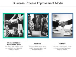Business Process Improvement Model Ppt Powerpoint Presentation Icon Aids Cpb