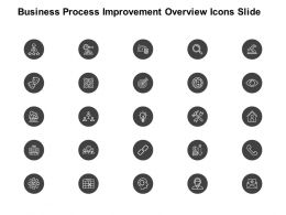 Business Process Improvement Overview Icons Slide Technology K374 Ppt Slides
