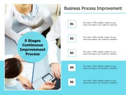 Business Process Improvement Planning Ppt Powerpoint Presentation Professional Guidelines