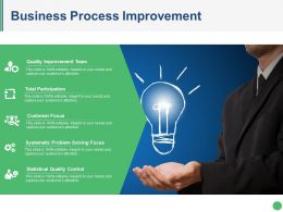 Business Process Improvement Powerpoint Slide Presentation Guidelines