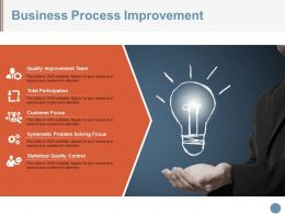 Business Process Improvement Ppt Design